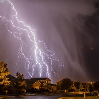 Lightning Striking Behind Home